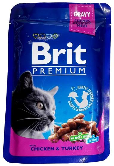 Brit Premium Cat Adult Kurczak Indyk Saszetka 100g